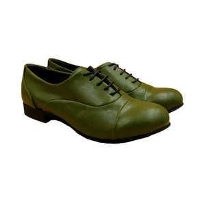Vaty Charlot Flat Shoes - Cactus Forest Green