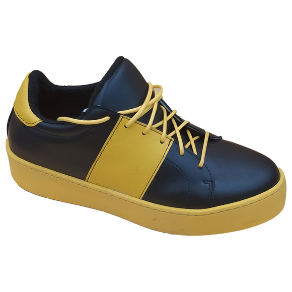 Alexa Sneaker - Black and Mustard - Outlet