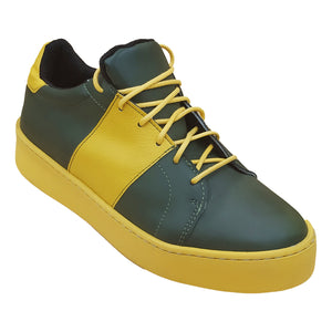 Alexa Sneaker - Green and Mustard - Outlet