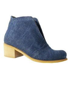 ankle boots jeans recycled vegan