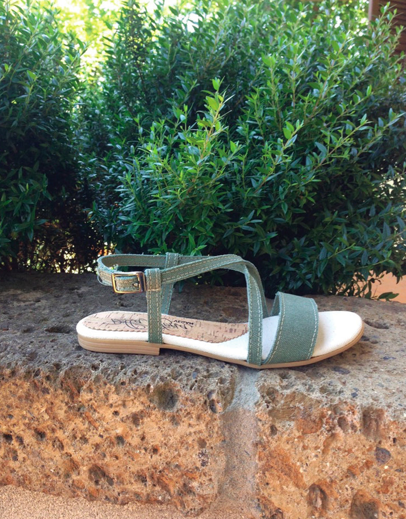 "alt=""BS17GINE hemp cotton cork vegan sandal"""
