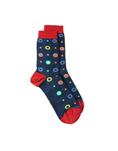 bamboo sock colored bubbles men women