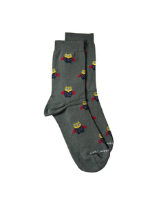 owl bamboo socks animal