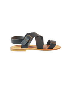vegan black sandal