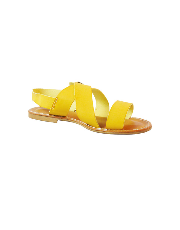 mustard yellow vegan sandal