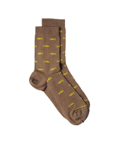 bamboo midcalf socks fishes animals