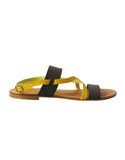 yellow and brown vegan sandal