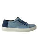 blue denim vegan sneakers