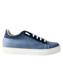 womens vegan sneakers in denim