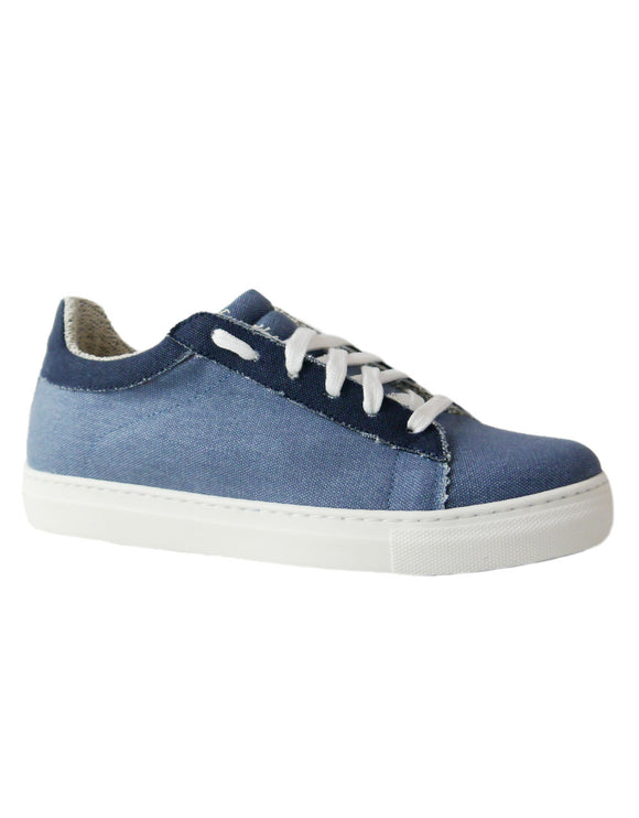 sneakers in denim jeans vegan