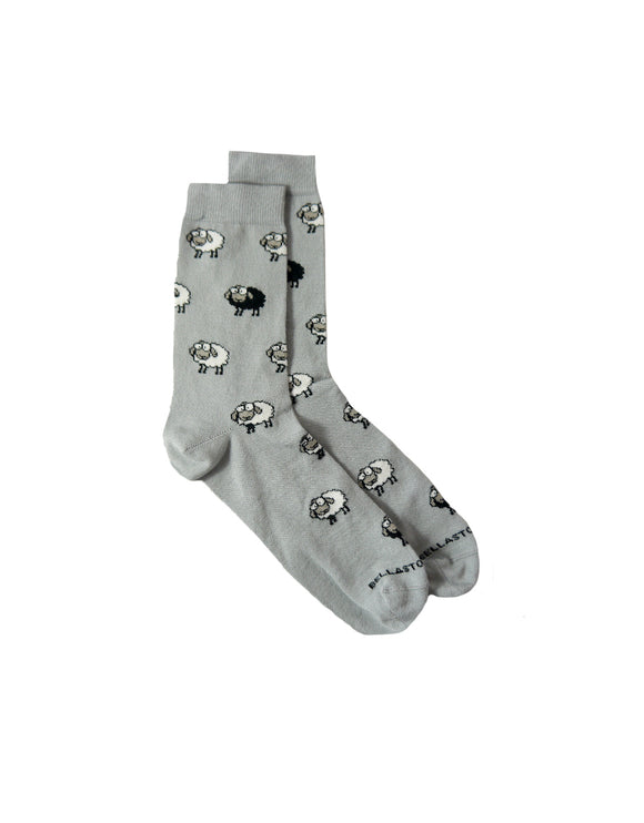 black sheep animal bamboo socks