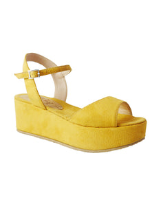 vegan suede wedge BellaStoria