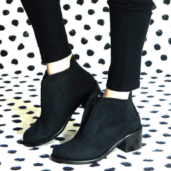 Alice Ankle Boots - Microfibre black winter