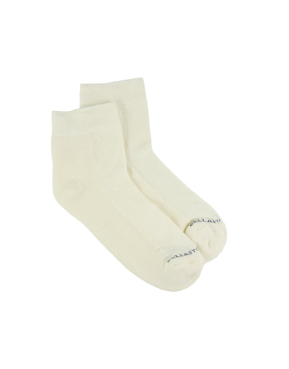 Bamboo Ankle Sponge Socks - WHITE