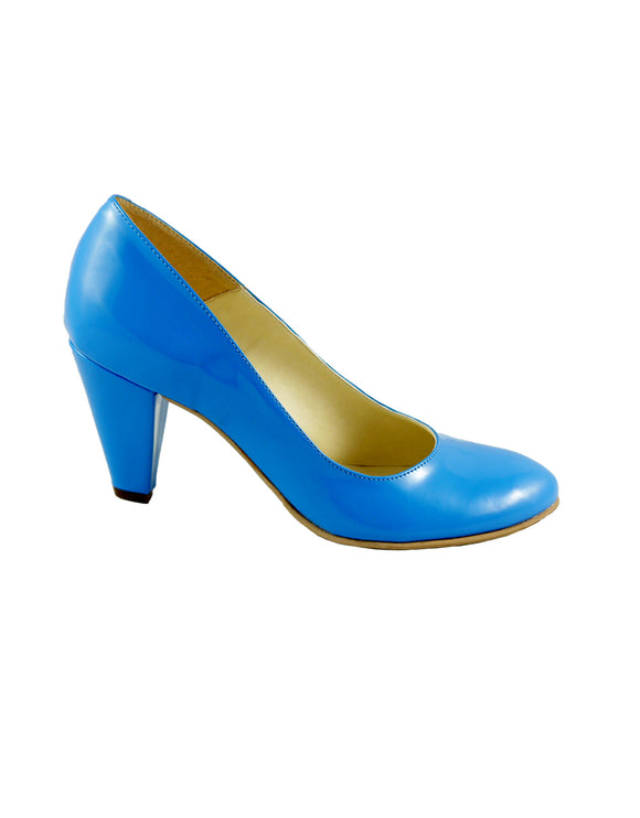 Dorothy Light Blue Patent décolleté