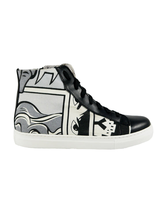 sneakers comics canvas vegan bellastoria