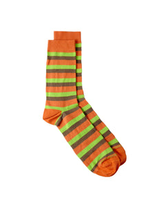 stripes brown orange bamboo socks