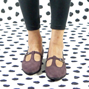 Vanity flat mary jane purple