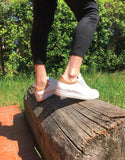 vegan sneaker low cut white cork BS17MIL