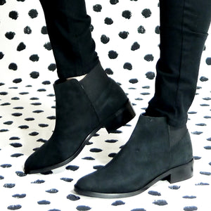 Veronica Boots - Microfibre black winter