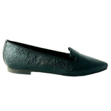 Louise flat crepe black vegan leather - outlet