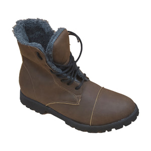Doctor boot man cap toe Wool brown - outlet