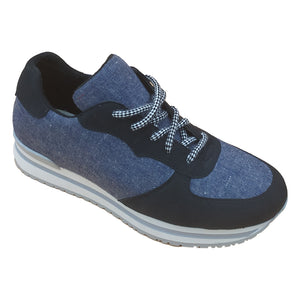 MARY RUNNING Sneaker - Recycled hemp denim - outlet