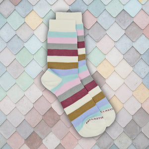 Bamboo MidCalf Socks - STRIPEROSE