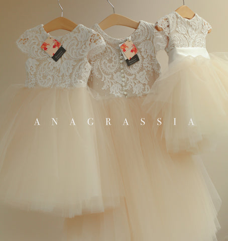 communion, first communion, anagrassia, special occasion, lace, tulle, girls