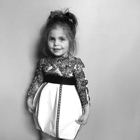hand embroidered Flower Girl Dress