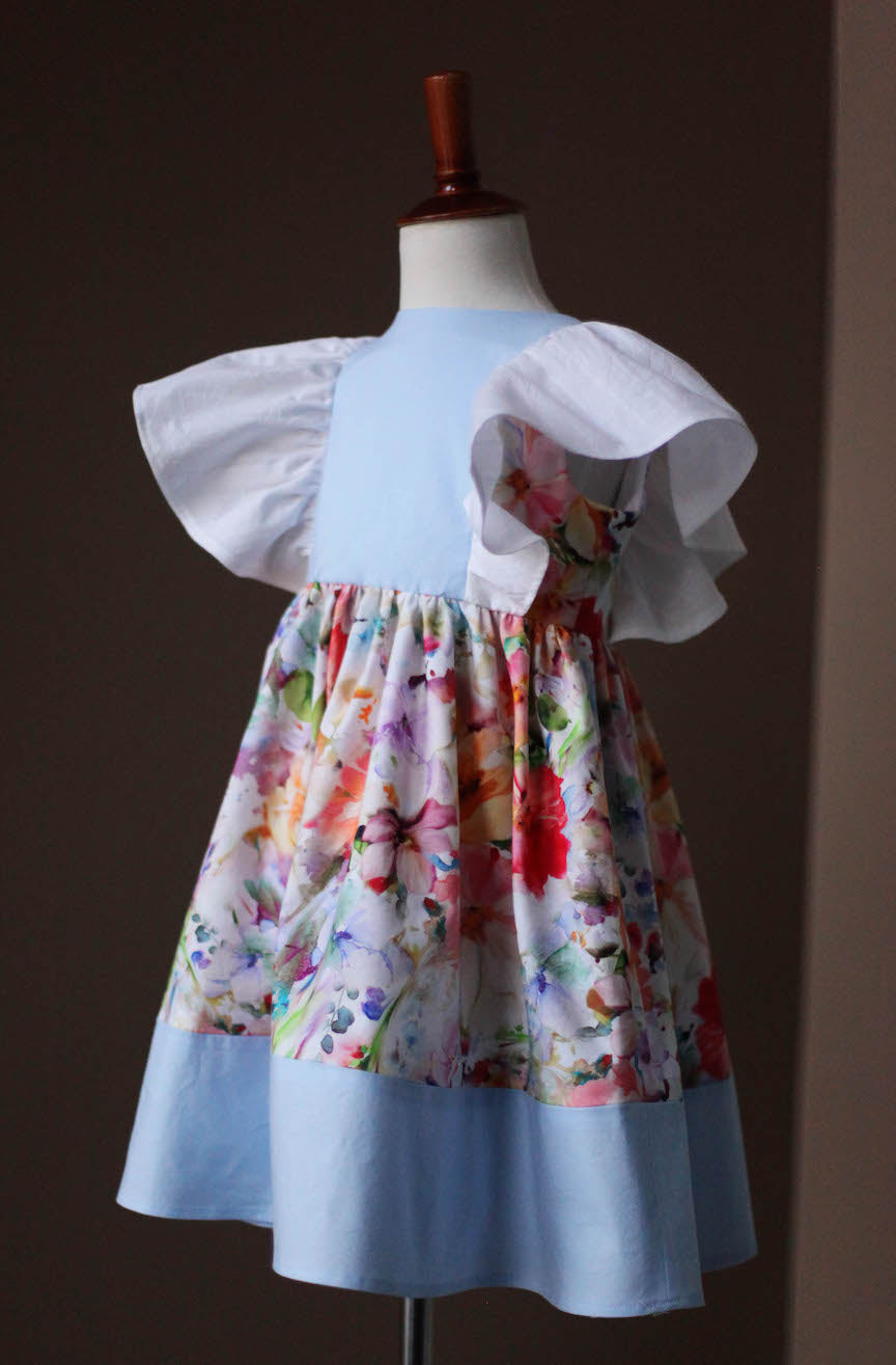 Floral Pinafore Dress