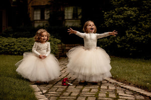 Lace Flower Girl Dresses Tutu