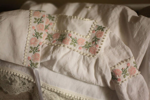 Embroidered Baptismal Gown