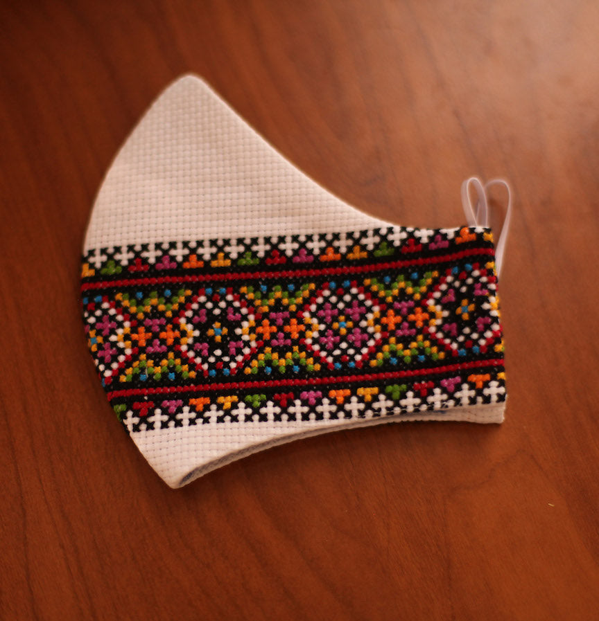 Slavic embroidered face mask