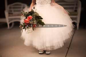 Champagne Tulle Skirt Flower Girl Dress