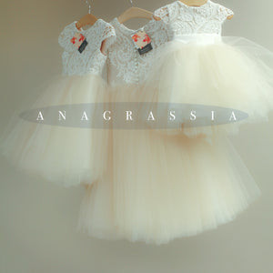 ivory lace tulle dress flower girl