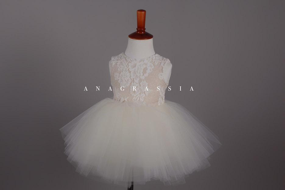 ivory communion lace tulle dress flower girl