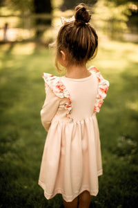 Anagrassia Blush Pink Peony Pinafore Dress for Girls
