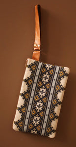 Ukrainian Hand Embroidered Handbag Clutch with Real Leather Details Style #318 (Introductory Price)