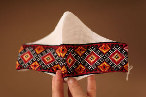 Ukrainian embroidered face mask