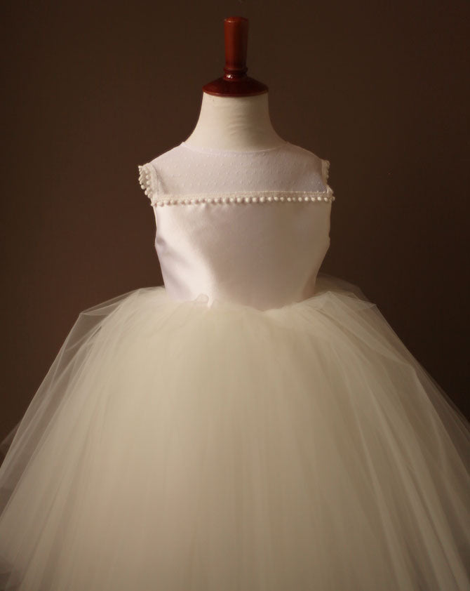 illusion neckline tulle dress