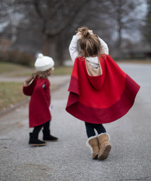 Red Wool capes