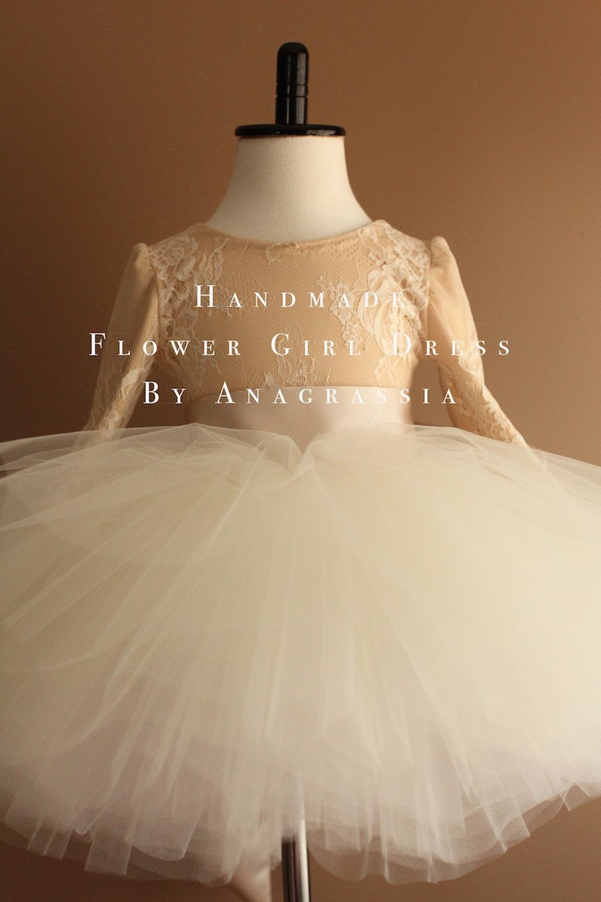 tutu lace leotard flower girl dress