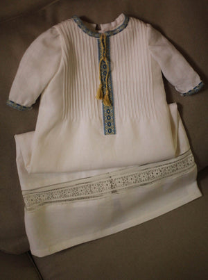 boys Ukrainian embroidered baptismal gown