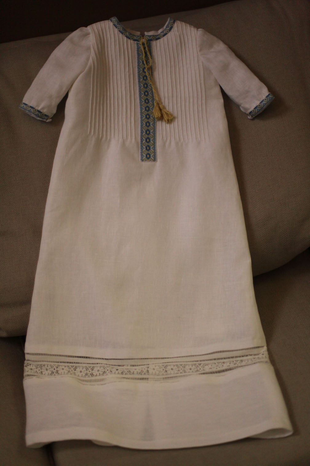 Ukrainian embroidered baptismal gown
