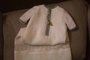 boys embroidered baptismal gown
