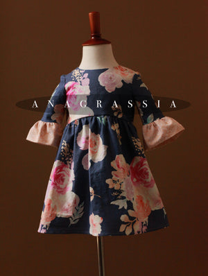 floral girls dress blue
