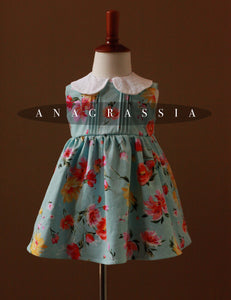 blue floral girls dress