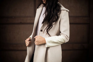 Champagne Wool Coat