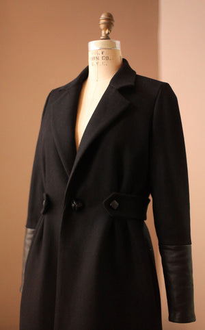 Black wool coats for women